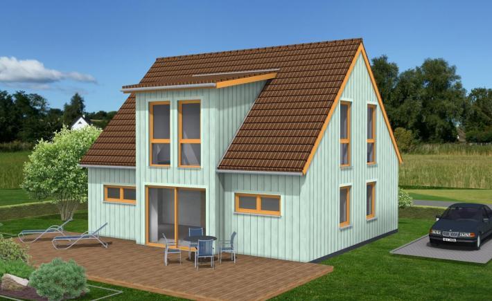 Klein und fein im Schwedenhausstil - Mit Holzverbundhaus zum eigenen Haus - Holzverbundhaus Grosch + Hobmeier GmbH