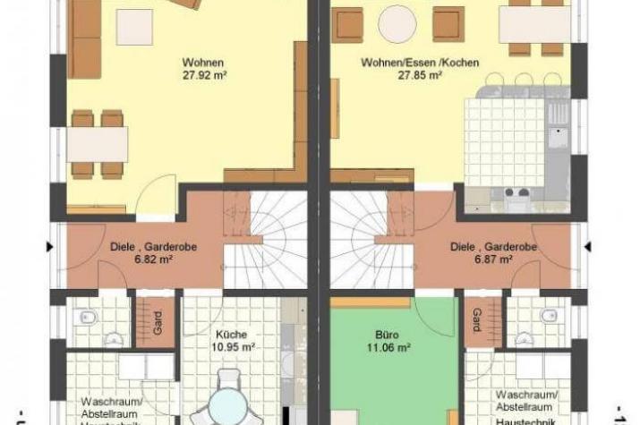 Kowalski haus doppelhaus emily rose for Zweifamilienhaus grundriss