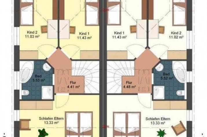 Kowalski Haus - Doppelhaus Emily-Rose - grundriss dg