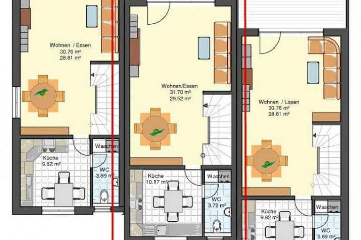 Kowalski haus reihenmittelhaus am hang mit tiefgarage for Einfamilienhaus am hang grundrisse