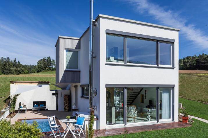 Kundenhaus Bettenhausen - Modernes zweigeschossiges Flachdachhaus