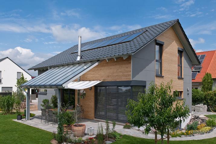 Kundenhaus Harthausen - Fassadenkombination mit Douglasie und Edelstahleckwinkeln