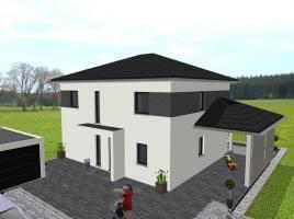 Moderne Stadtvilla mit Nebendachflächen - www.jk-traumhaus.de