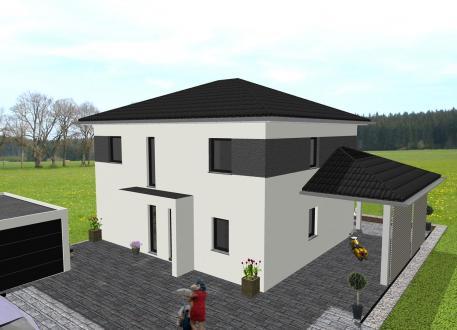 Luxushaus Moderne Stadtvilla mit Nebendachflächen - www.jk-traumhaus.de