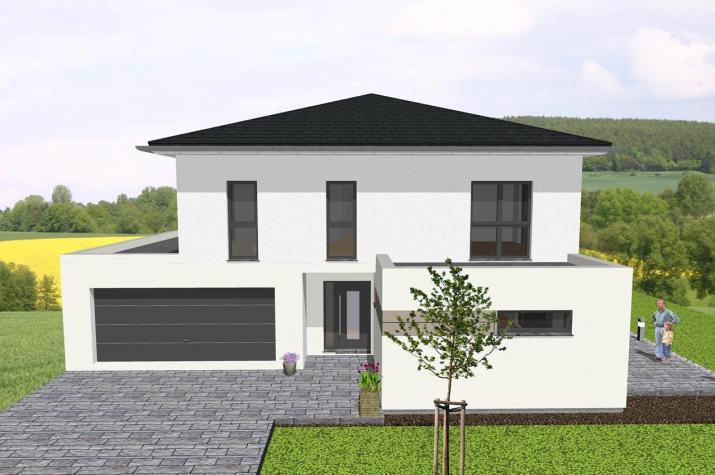 ᐅ Moderne Stadtvilla Mit Integrierter Garage Wwwjk Traumhausde