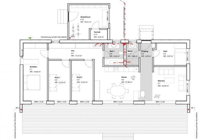 Moderner Bungalow - Erdgeschoss