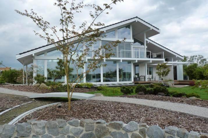 ᐅ Modernes Fachwerkhaus In Oldenburg Concentus Holzskelett Haus Gmbh