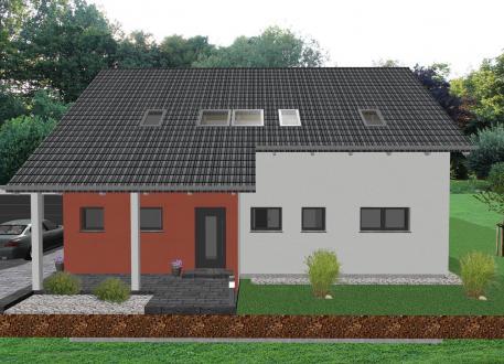 Zweifamilienhaus Modernes Zweifamilienhaus mit Bürotrakt - www.jk-traumhaus.de