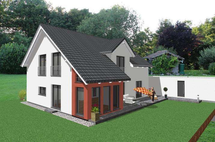 Modernes zweifamilienhaus mit b rotrakt for Modernes traumhaus