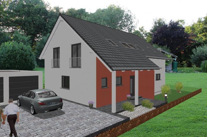 modernes zweifamilienhaus mit b rotrakt jk traumhaus. Black Bedroom Furniture Sets. Home Design Ideas