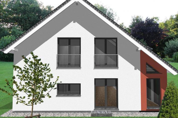 Modernes zweifamilienhaus mit b rotrakt for Zweifamilienhaus modern