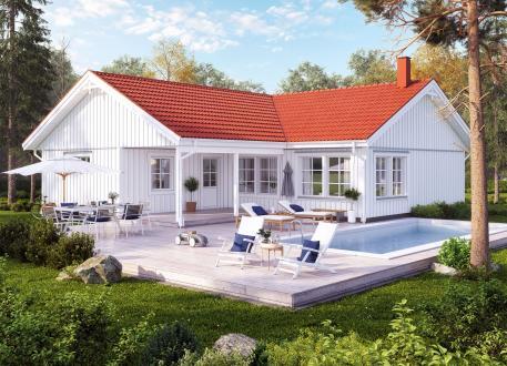 Bungalow NORGES HUS 116/1 - Bausatzpreis: 65.270.-- € inkl. MwSt.