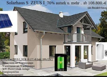 NiedrigEnergiehaus - Solarhaus ZEUS..80 Prozent aus Umweltenergie und Mehr