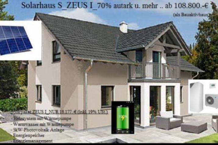 NiedrigEnergiehaus -  Solarhaus ZEUS..80 Prozent aus Umweltenergie und Mehr -