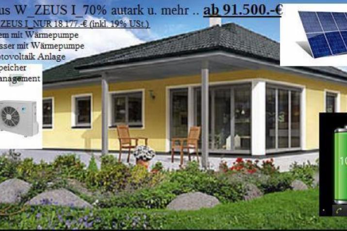 NiedrigEnergiehaus _  Solarhaus ZEUS...80 Prozent aus Umweltenergie und Mehr -