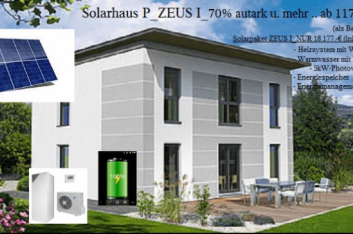 NiedrigEnergiehaus _  Solarhaus ZEUS..80 Prozent aus Umweltenergie und Mehr -