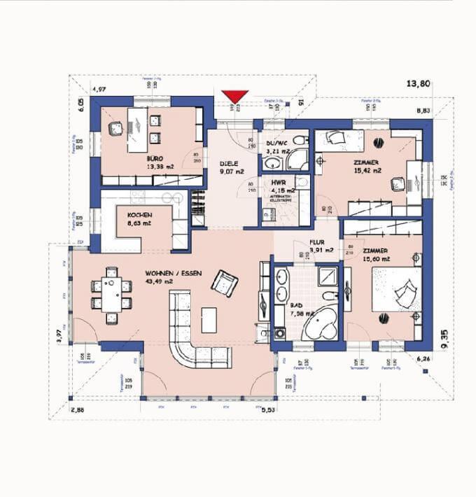 Grundriss haus modern  ᐅ Einfamilienhaus bauen | 923 Einfamilienhäuser mit Grundrissen u ...