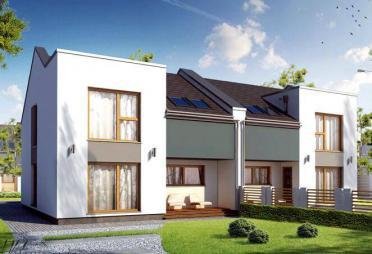 zweifamilienhaus bauen zweifamilienh user mit grundriss. Black Bedroom Furniture Sets. Home Design Ideas