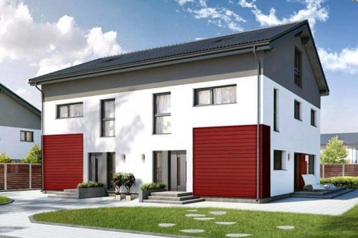 Treppenhaus zweifamilienhaus  ᐅ Zweifamilienhaus bauen | 119 Zweifamilienhäuser mit Grundriss ...