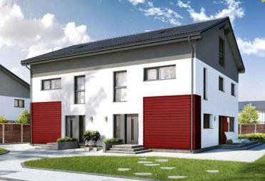 Zweifamilienhaus bauen zweifamilienh user mit grundriss for Zweifamilienhaus modern grundriss