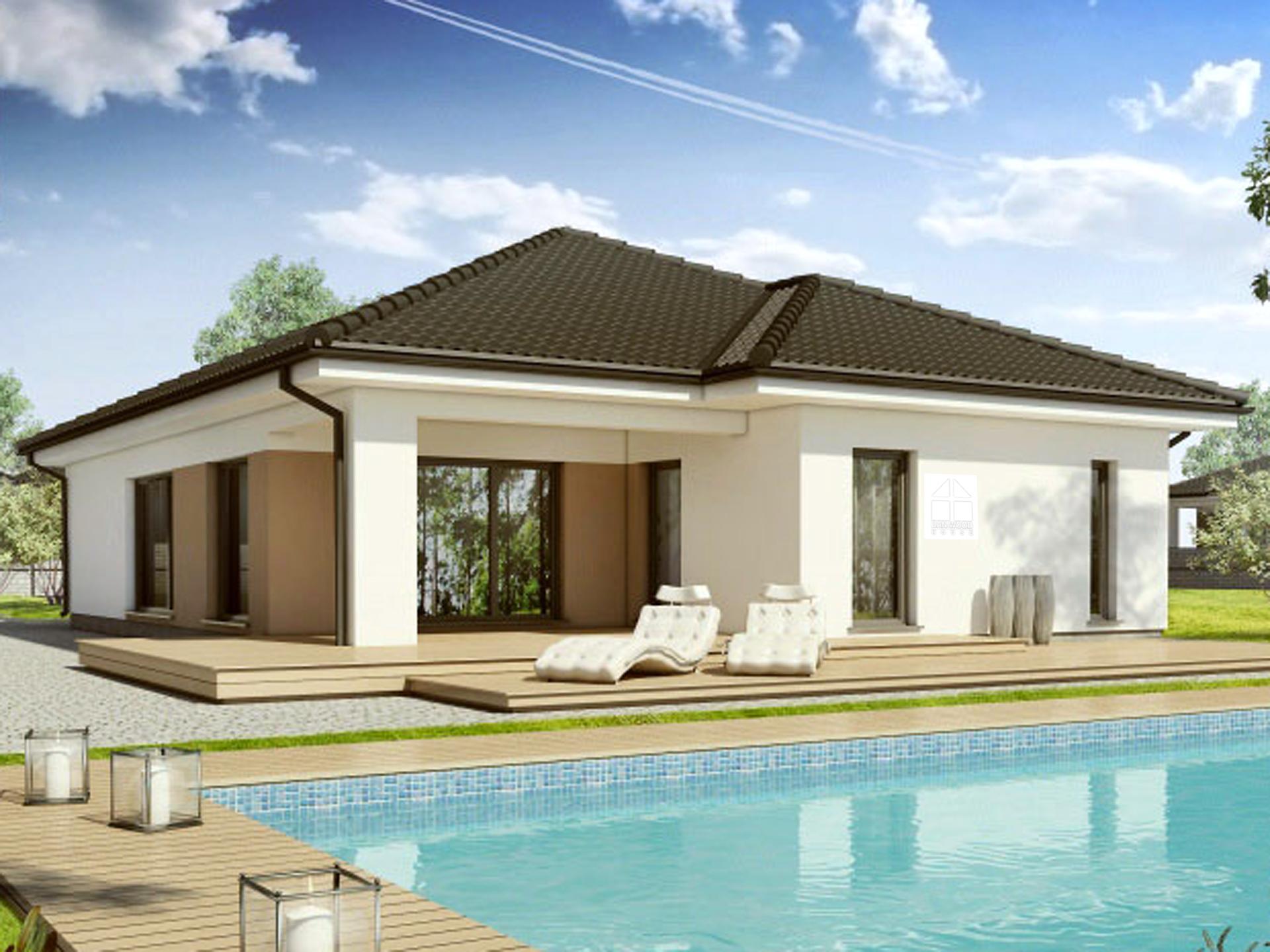 Haus bauen modern walmdach  ᐅ BUNGALOW bauen ▷ 207 Bungalows mit Grundrissen & Preisen