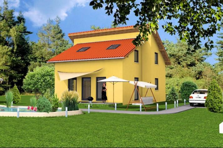 Pultdachhaus 129 - Zeitgemäß Wohnen. - Gartenansicht