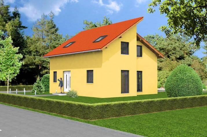 pultdachhaus 129 zeitgem wohnen systemhaus. Black Bedroom Furniture Sets. Home Design Ideas