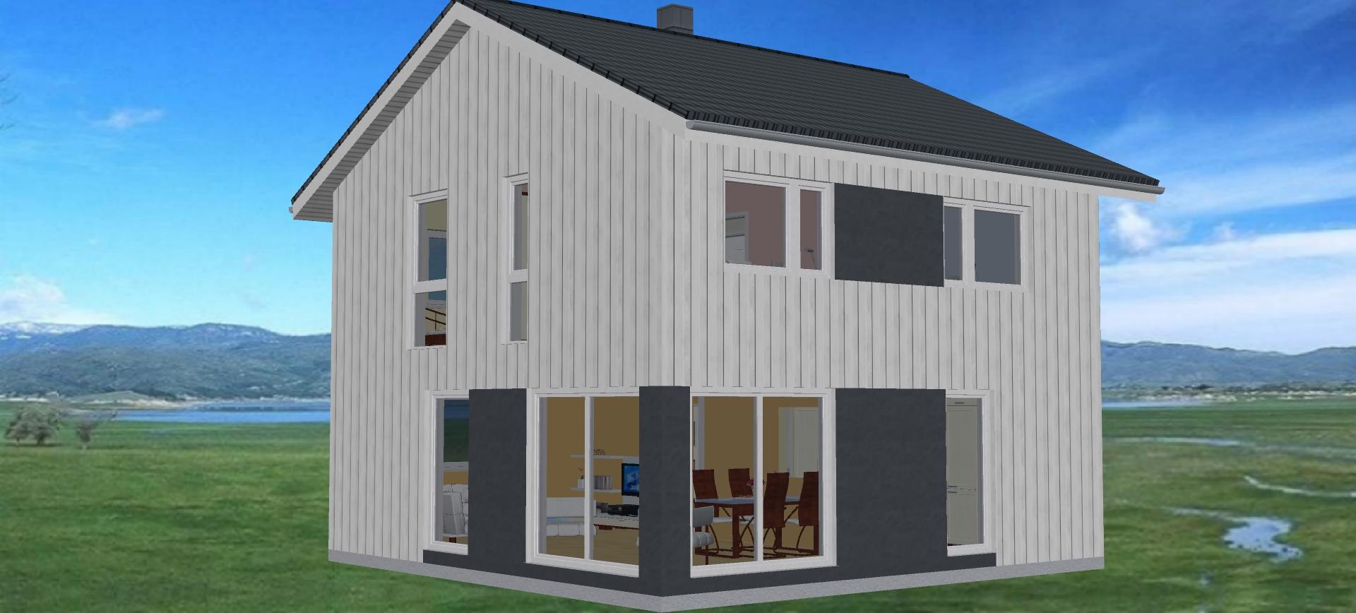 fjord haus fertighaus living haus nominiert zum haus des jahres bien zenker haus satteldach. Black Bedroom Furniture Sets. Home Design Ideas