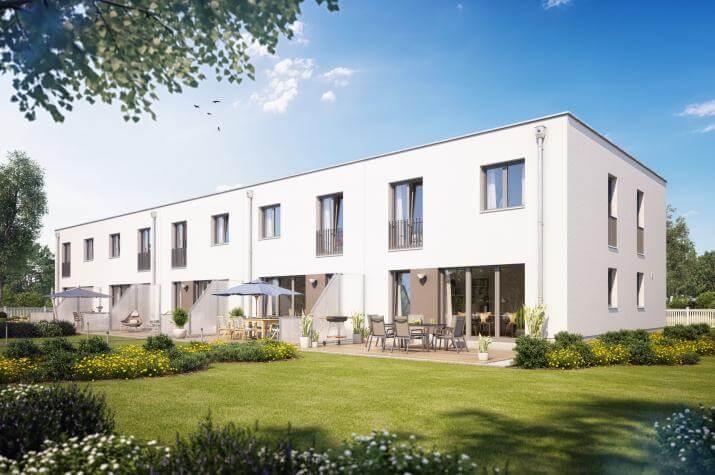 Reihenmittelhaus F550 in NRW und Hessen - Außenansicht