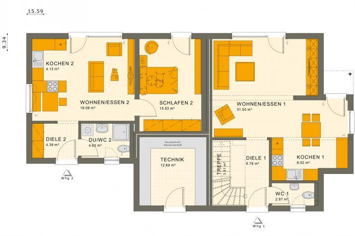 SOLUTION 183 V2 - Grundriss Erdgeschoss