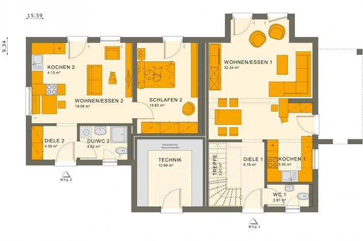 SOLUTION 183 V4 - Grundriss Erdgeschoss