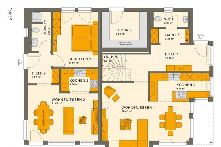 SOLUTION 230 V4 - Grundriss Erdgeschoss