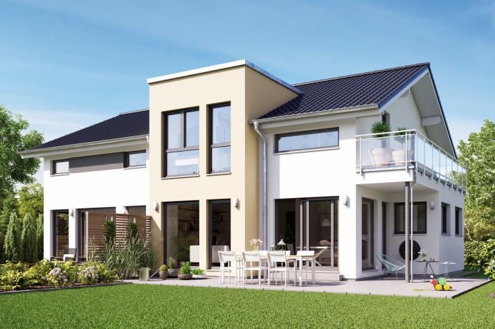 SOLUTION 230 V4 - Preisgekröntes Mehrgenerationenhaus mit Querhaus, Freisitz und Balkon