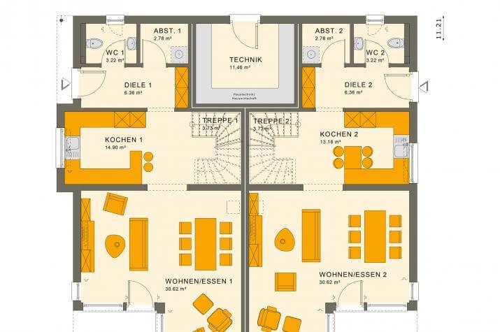 SOLUTION 242 V7 - Grundriss Erdgeschoss