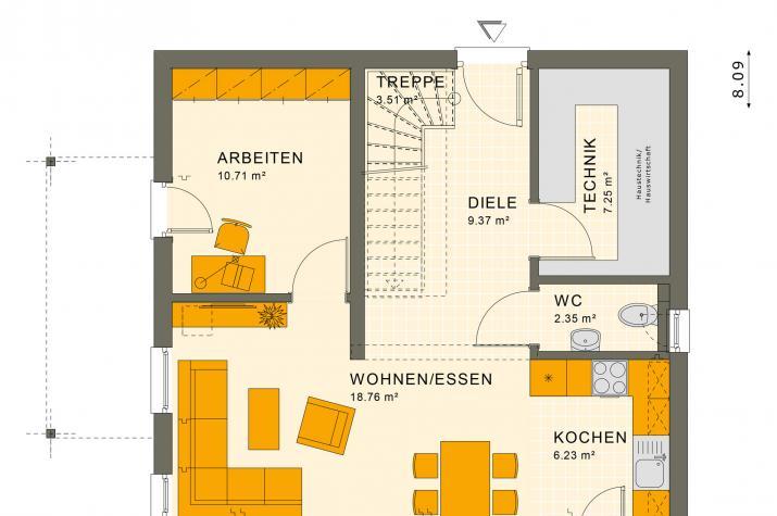 SUNSHINE 113 V4 - Grundriss Erdgeschoss