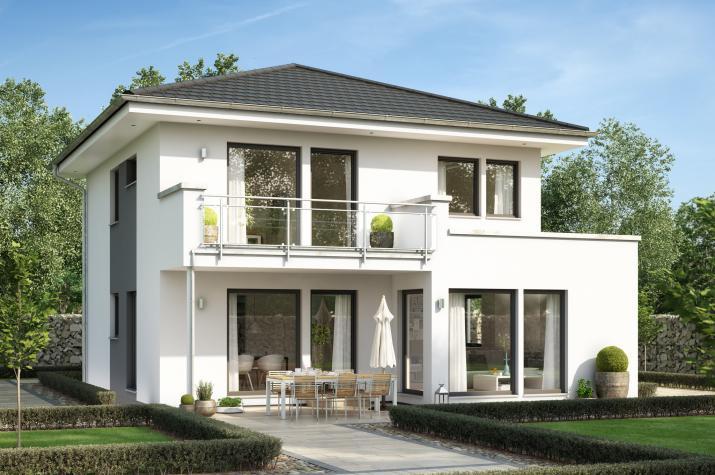 SUNSHINE 126 V7 - Großzügiges Walmdachhaus mit Übereckerker und Balkon