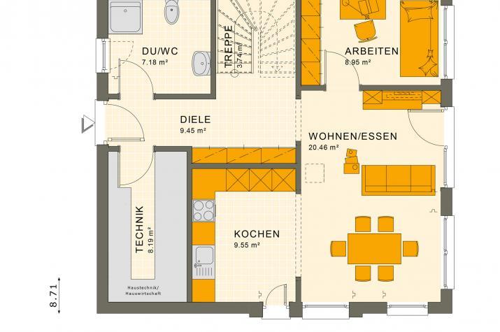 SUNSHINE 136 V2 - Grundriss Erdgeschoss