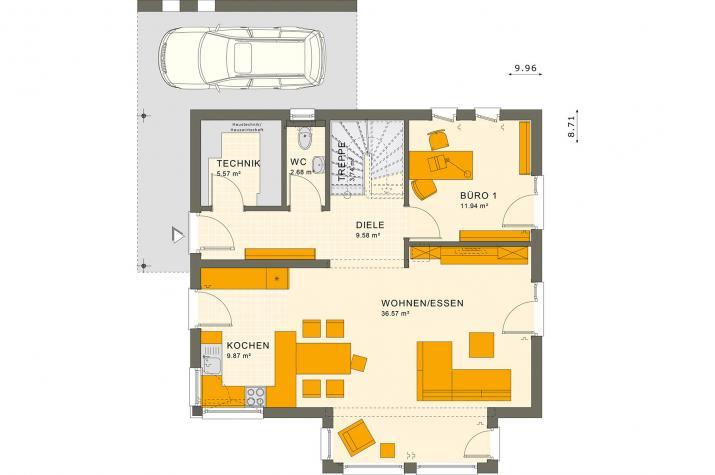 SUNSHINE 143 Mülheim-Kärlich - Grundriss Erdgeschoss