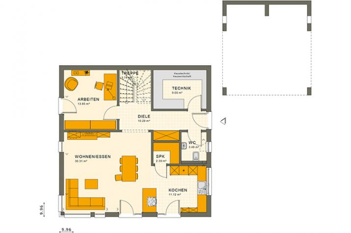 SUNSHINE 167 V3 - Grundriss Erdgeschoss