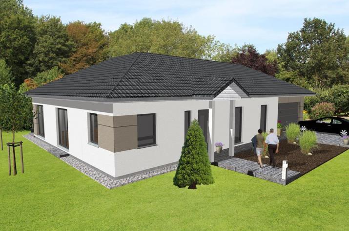 schicker winkelbungalow mit integrierter garage jk traumhaus. Black Bedroom Furniture Sets. Home Design Ideas
