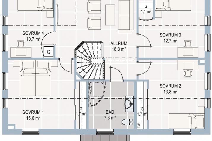 Schwedenhaus Hussvalan - Großzügige Fensterflächen  -