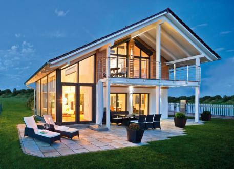Einfamilienhaus Seehausen - Wintergarten, überdachte Terrasse und Balkon