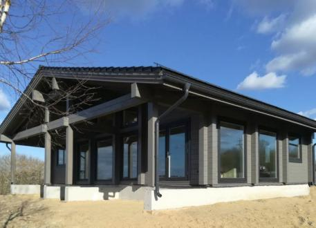 "Holzbungalow Skandinavisches Holzhaus, Projekt ""Morgen"" 110 m²"