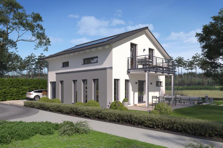 SmartSpace-E-140 Entwurf 4 - Außenansicht auf das Einfamilienhaus