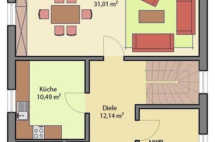 stadtvilla massive bauweise arthausbau. Black Bedroom Furniture Sets. Home Design Ideas