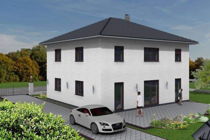 stadtvilla 178 qm wohnfl che auf bodenplatte sawohaus. Black Bedroom Furniture Sets. Home Design Ideas