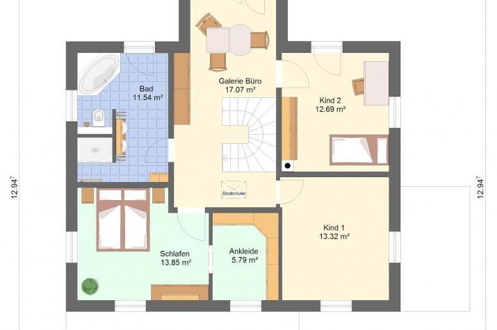 Stadtvilla_174 qm - Stadtvilla 174 qm Grundriss_Obergeschoss