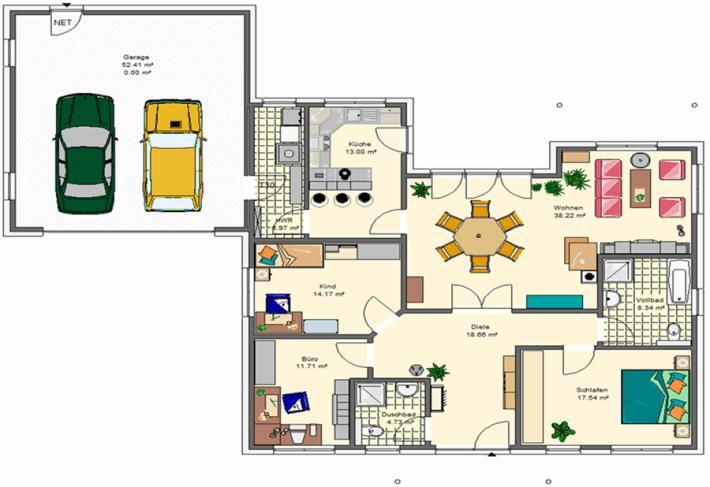 Variocorner 133 hse massivhaus gmbh beratungsb ro for Optimaler grundriss einfamilienhaus