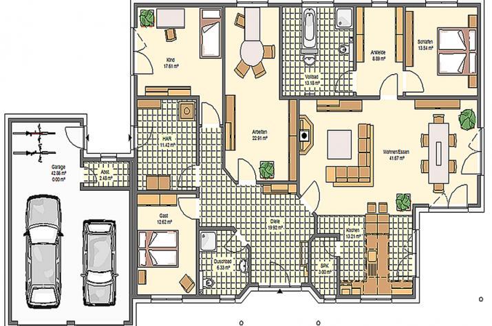 Variocorner 187 hse massivhaus gmbh beratungsb ro for Optimaler grundriss einfamilienhaus
