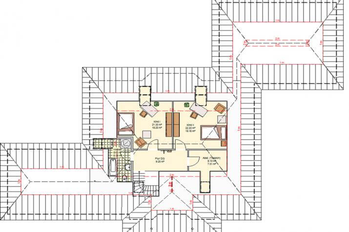Variocorner 276 hse massivhaus gmbh beratungsb ro for Optimaler grundriss einfamilienhaus